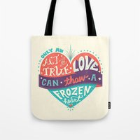 lyrics Tote Bags featuring Lyrics Love by Pink Berry Patterns