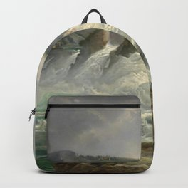 The Rhine Waterfalls, Switzerland landscape painting Christian Morgenstern Backpack