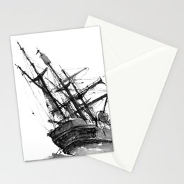 wrecked ship Stationery Cards