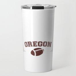 Just a Baller from Oregon Football Player Travel Mug