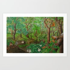 Beautiful forest Art Print