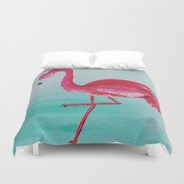 Frank the Flamingo Duvet Cover