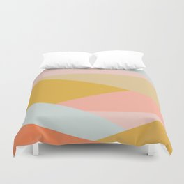 Large Triangle Pattern in Soft Earth Tones Duvet Cover