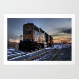 CSX Sunset Art Print