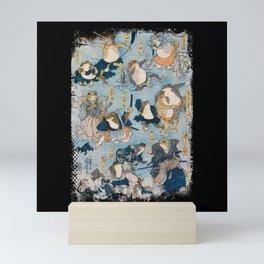 SAMURAI FROG VINTAGE Mini Art Print