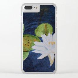 Muskoka Lilypad Flower Clear iPhone Case