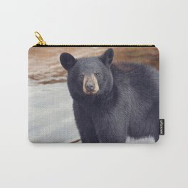 Young black bear near water Carry-All Pouch