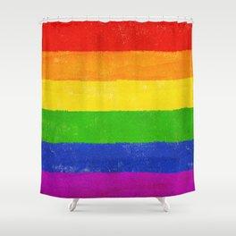 Gay Pride Flag LGBQT Shower Curtain