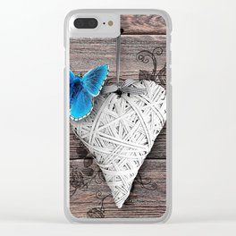 Heart & butterfly | coeur et papillon Clear iPhone Case