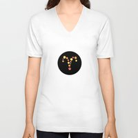 aries V-neck T-shirts featuring Aries by rusanovska