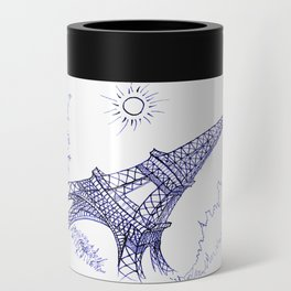 Eiffel Tower in Blue Can Cooler