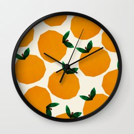 Abstraction_Orange_Fruit Wall Clock