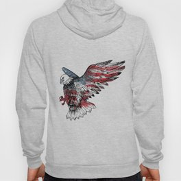 Watercolor bald eagle symbol of the United States Hoody
