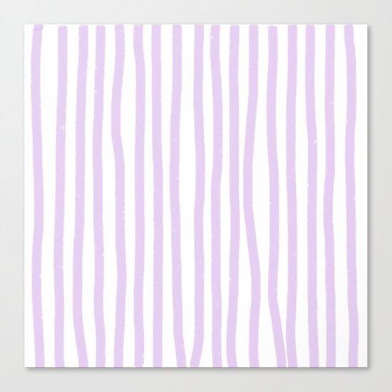 Lavender Stripes Canvas Print