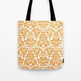 Elegant Damask Pattern (orange) Tote Bag