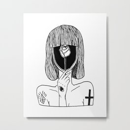 A GIRL TATTOO Metal Print