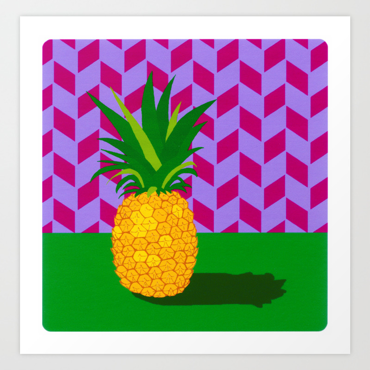 fruit with wallpaper pineapple prints