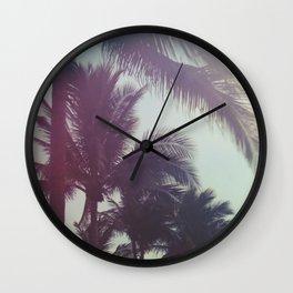 Dreamy Palm Trees Wall Clock