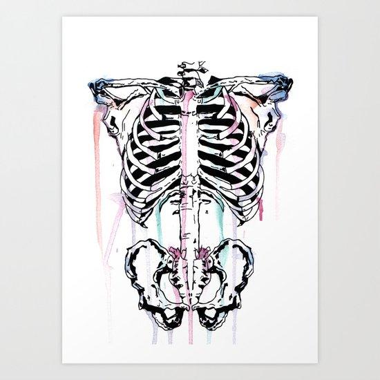 Skeleton #2 Art Print
