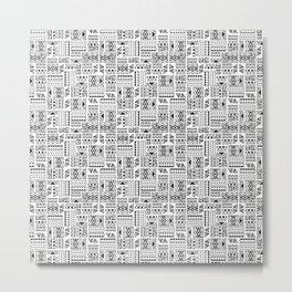 Tribal Tiki Pattern Metal Print