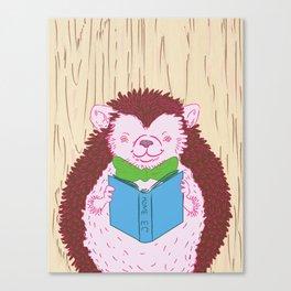 Grab a Book - Home Economics - Hedgehog Love Canvas Print