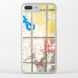 Trashed Subway Clear iPhone Case