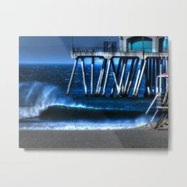 Santa Ana Winds Huntington Beach California Metal Print