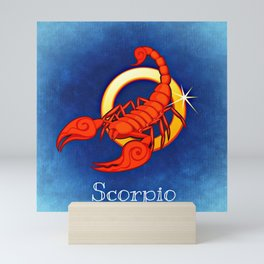 Zodiac_Sign_Scorpio Mini Art Print