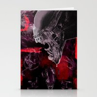 "xenomorph Stationery Cards featuring Alien Xenomorph ""Xenomorphobia"" by judgehydrogen"