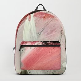 Train of thought: a vibrant abstract mixed media piece Backpack