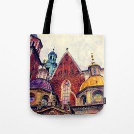 Wawel Cracow watercolor Tote Bag