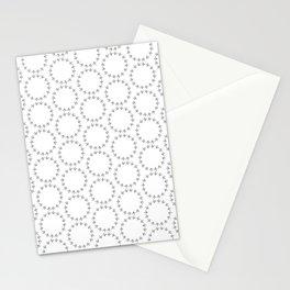 Gray Circles Stationery Cards