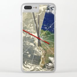 Doomsday Clock 01 Clear iPhone Case