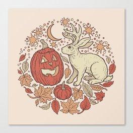 Halloween Friends | Autumn Palette Canvas Print
