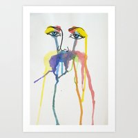 Jane Doe // Watercolour Art Print