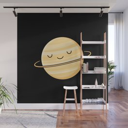 Happy Planet Saturn Wall Mural