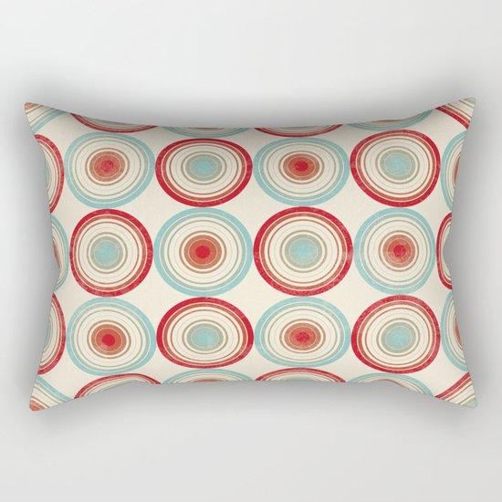 Colorful Circles III Rectangular Pillow