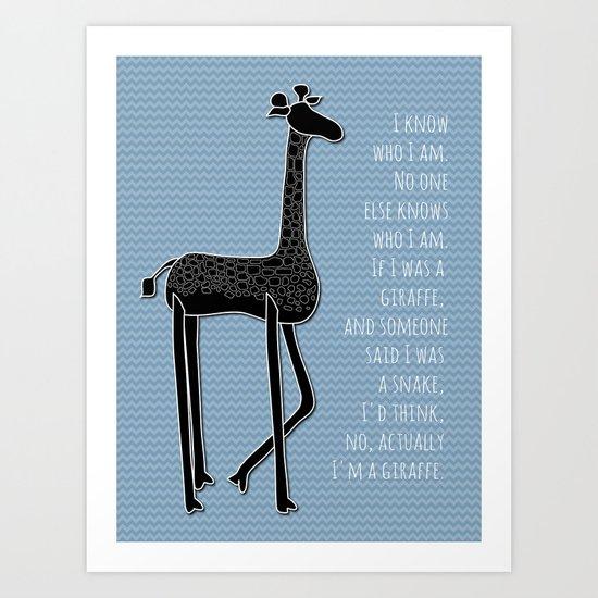 I Am Me Art Print