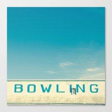 Bowling Canvas Print