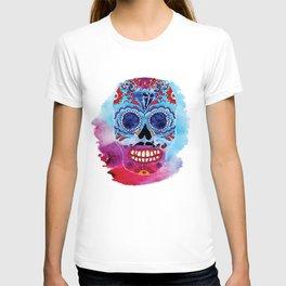 Watercolor Day of the dead sugar skull. Mexican skull illustration. T-shirt