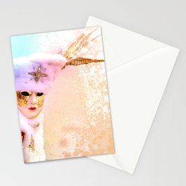 Magic of Venetian Carnival Stationery Cards