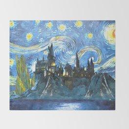 Starry Night(Hogwarts Castle) Throw Blanket