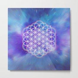 Trippy Sacred Geometry Metal Print