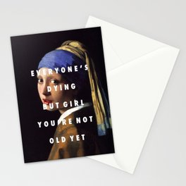 Step with a Pearl Earring Stationery Cards