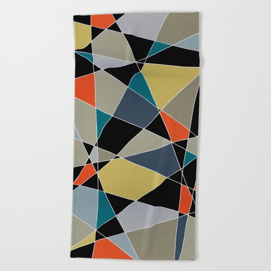 triangles pattern 002 Beach Towel