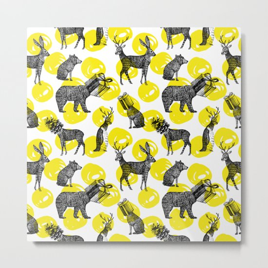 half animals pattern Metal Print