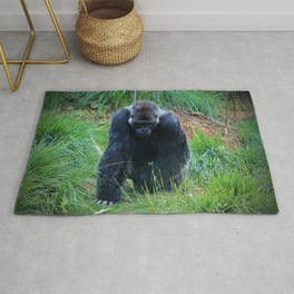 Gorilla On The Prowl Rug