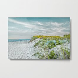 Chatham Lighthouse Beach in Teal Metal Print