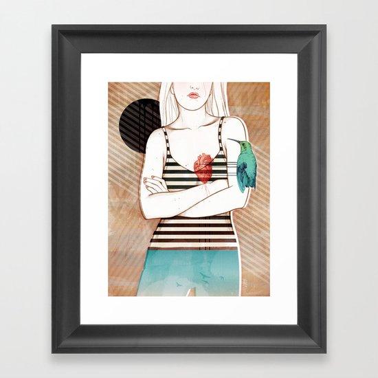 Palpitation V2 Framed Art Print