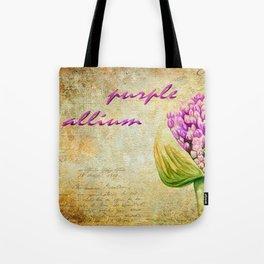 Purple Allium Bud Tote Bag